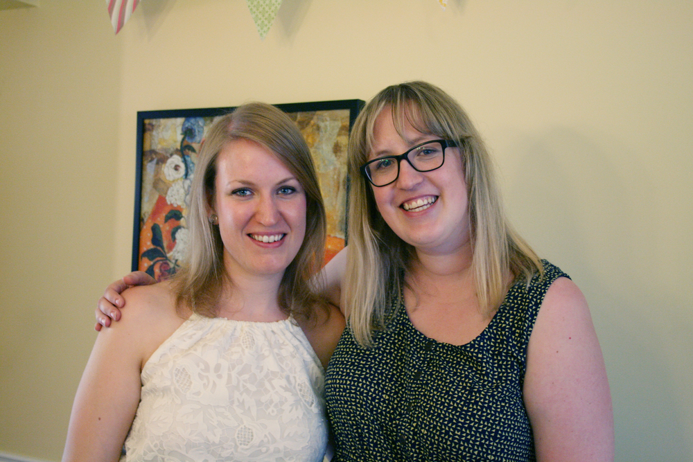 Brenna and I at her Bridal Shower