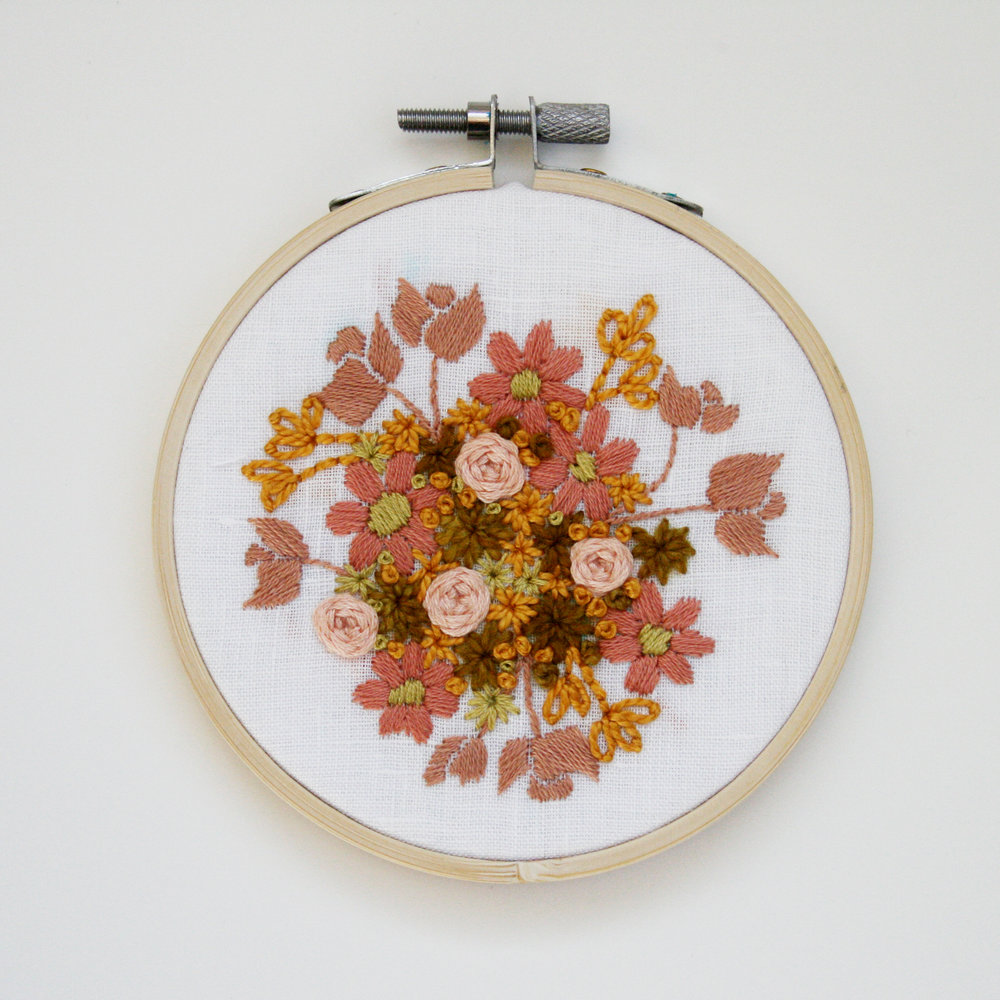 Embroidery 7 - Pink and Yellow Floral on White - 4 Inch.jpg