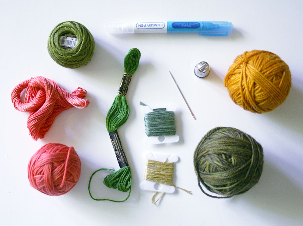 Tutorial on how to embroider your own landscape art by Amanda Farquharson