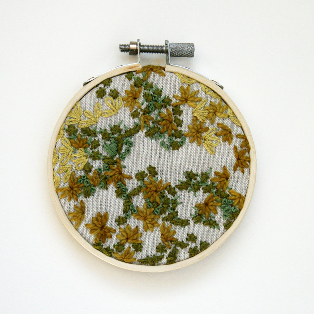 Embroidery 11 - Green Abstract on Natural - 3 Inch.jpg