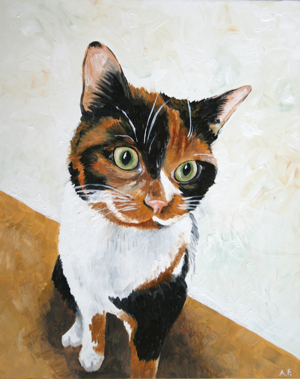 Mocha, 8 x 10 oil on hardboard - Amanda Farquharson
