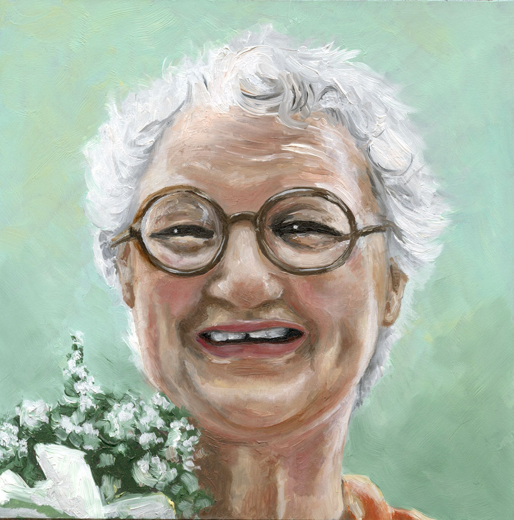 Dorothy Farquharson as painted by Amanda Farquharson, her granddaughter.
