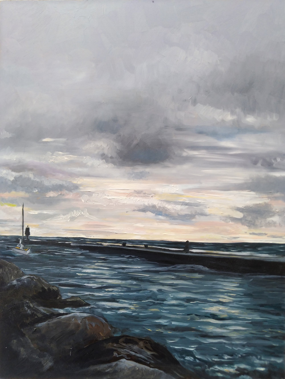Kincardine Harbour Oil Painting by Amanda Farquharson.jpg