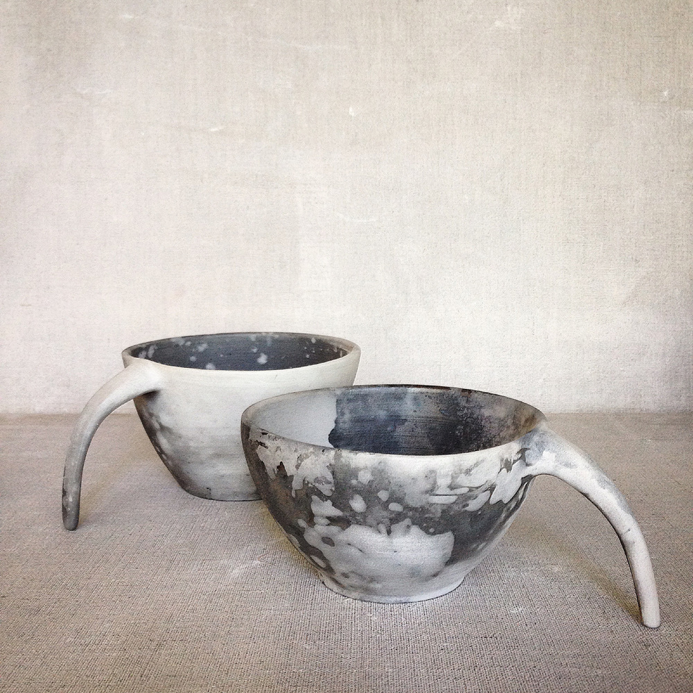Detached Teacups, Saggar Fired with native flora & indigenous fauna, 300 DPI.jpg
