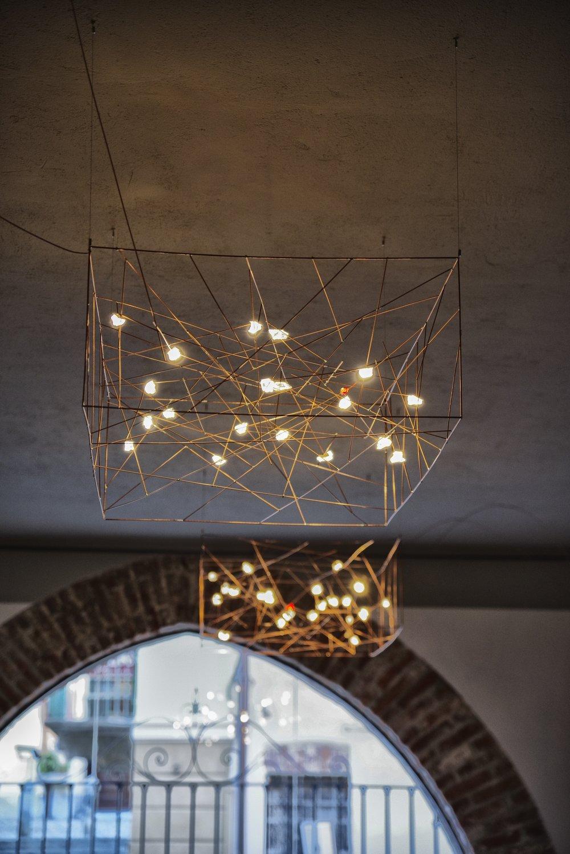 LED Carpet Cube Suspension Lamp-Le Meduse