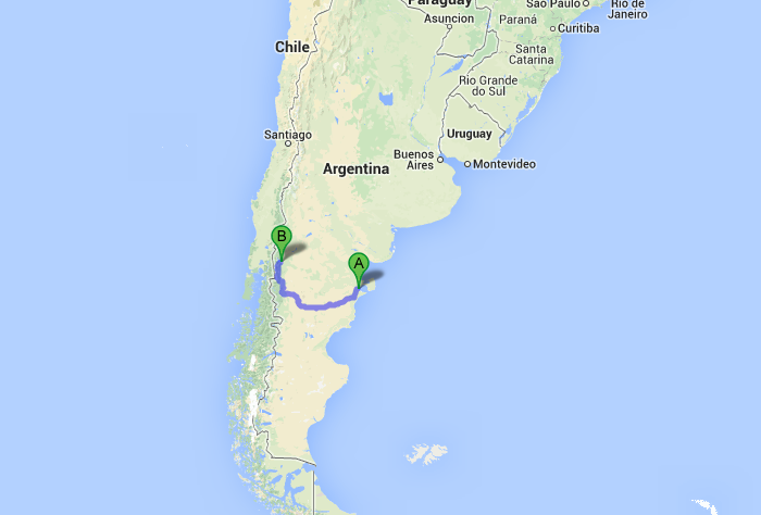 One Last Kick In The Ass From Puerto Madryn The Bus To Bariloche - Argentina map puerto madryn