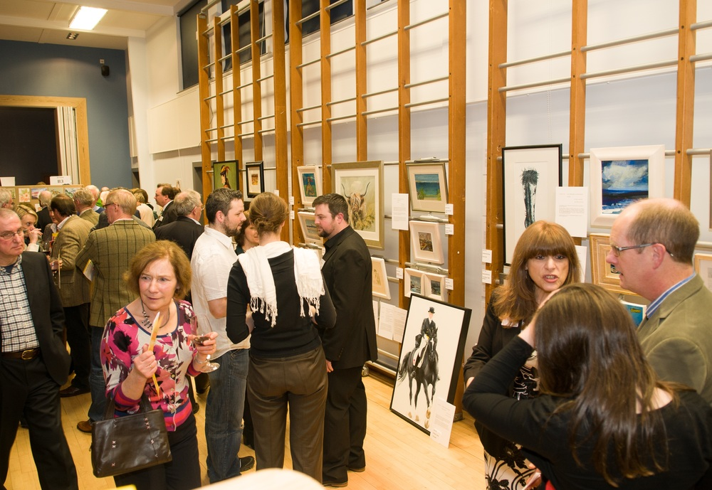 Crowds at Art off the Rock 2012 auction.jpg