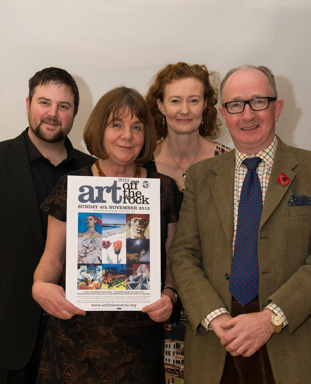 The Art off the Rock Team - Artlink Central Director Kevin Harrison, Patron Julia Donaldson, Development Officer Fiona Taylor and United Actions auctioneer David Leggat.jpg