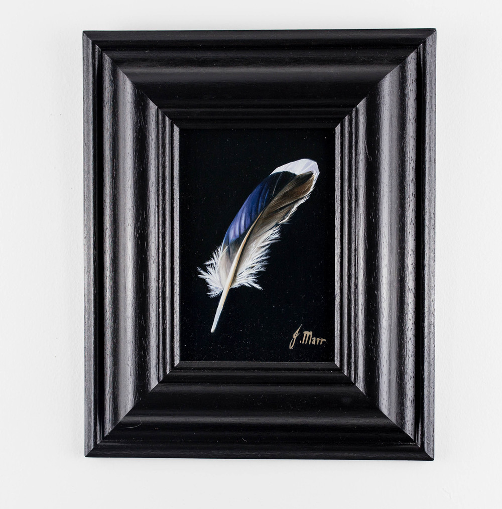 LOT 12 Jacqueline Marr Mallard Feather III Oil on Board