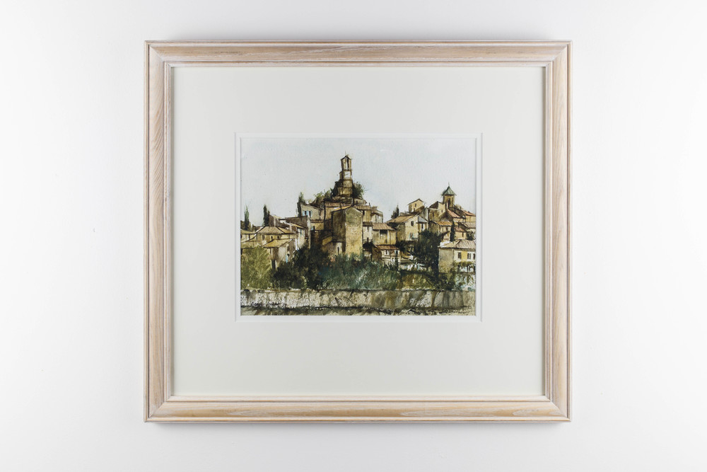 LOT 22 George Gilbert Provencal Village Watercolour