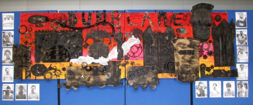 'Steampunk Village' by pupils from Dunblane High School transition 2016