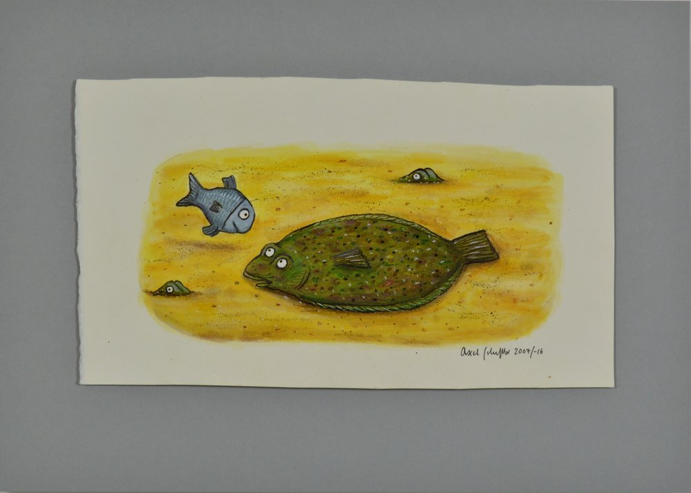 Up for Auction: Axel Scheffler's unpublished image from 'Tiddler'