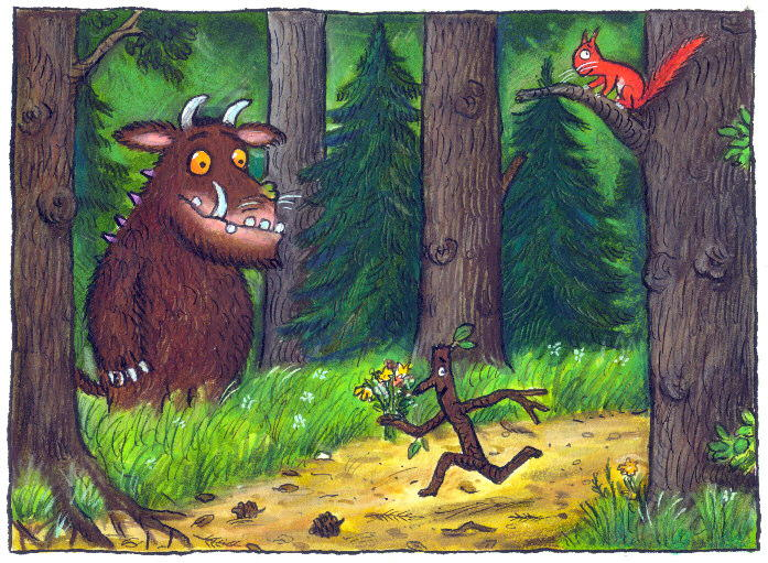 Image from Artlink Central's 'The Illustrators exhibition in 2014 curated by Julia Donaldson with Falkirk Community Trust.