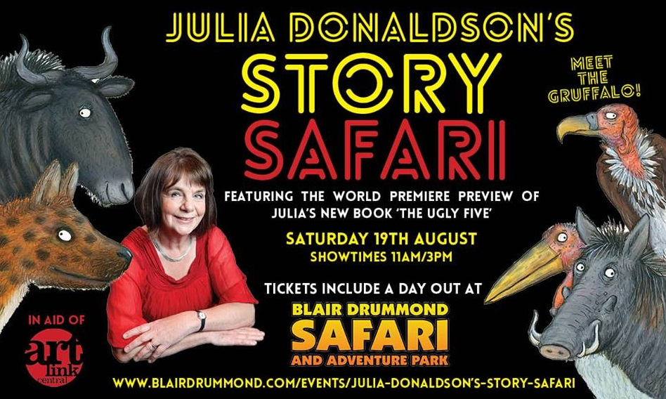- Julia Donaldson's Story Safari was made possible when Blair Drummond Safari Park agreed to host the event, including handling ticket sales.