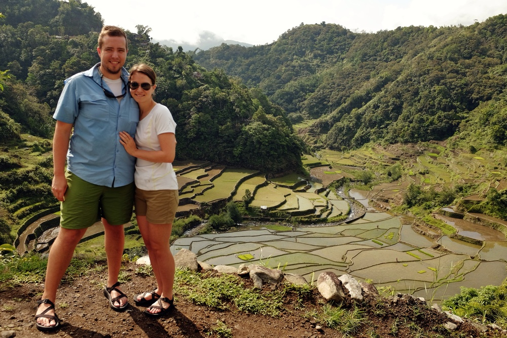 The wifey and I in Banaue.