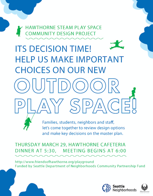 Playground Design Meeting - March 29, 2018