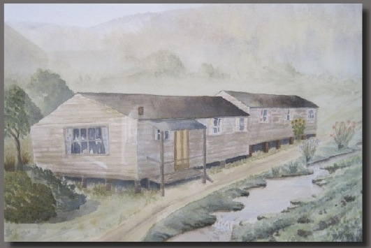 Nona Stead gave me her painting of Leo's 'hut' in Fowey, Cornwall. I treasure it.