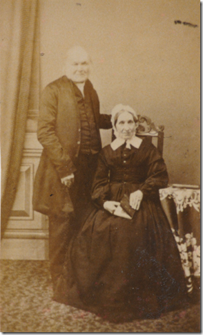 Thomas Beacock and his wife Hannah Benington. [Photo courtesy of Merril Bourne].
