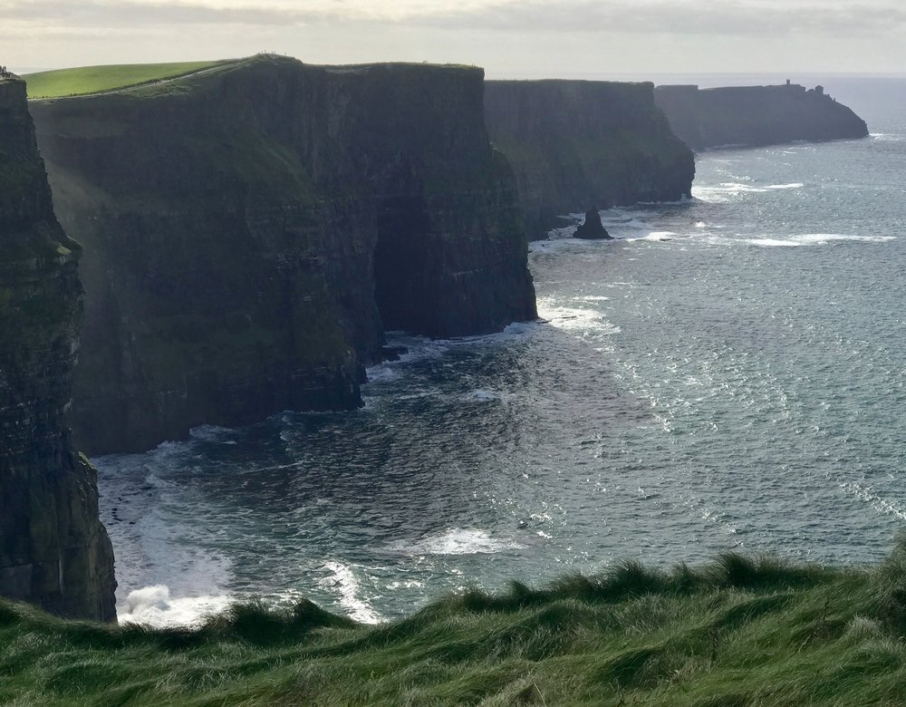 Cliffs of Moher, photographed this last October on a visit to Ireland. The first day we visited, there was almost hurricane wind and rain pelting us horizontally, with almost nil visibility. We decided to visit again on the next day, which turned out to be sunny, mild, and perfect for photographing these incredible cliffs. ©2017 Sean Walmsley;
