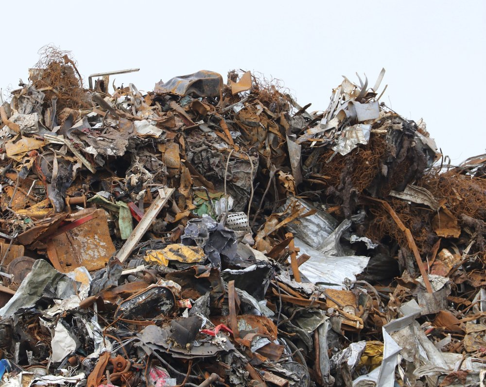 I was fascinated by this pile of metal scraps I found on one of the docks in Galway Harbour (Ireland). One of the advantages of displaying this photo in a small space is that one can look for items to think about what they might have been in the real world. Several mattress or car seat springs here, flywheels, radiators, fans, transmissions, etc. It does remind us how much waste we accumulate—but at least this stuff can be recycled! ©2017 Sean Walmsley;