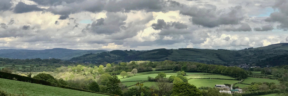 View from Bwlchbychan Mansion, Llanwenog, Wales. (This is the house in which I was born)    ©2017  Sean Walmsley