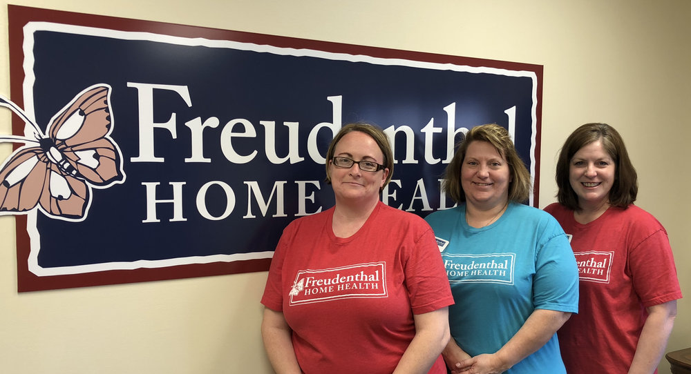 The Freudenthal Occupational Therapist Team (Right to Left): Julie Raines, Angela McQuinn, Sheila Surmeier