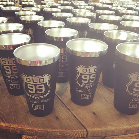 Old 99 Republic member pints.