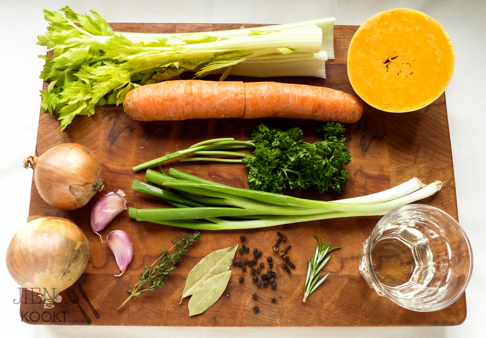 Ingrediënten groentebouillon
