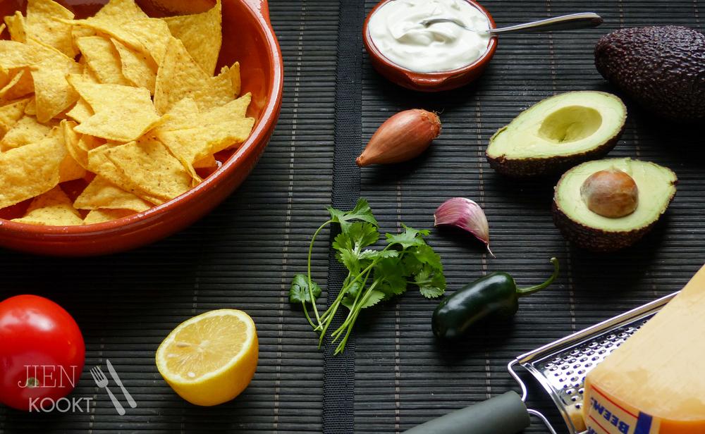 Ingrediënten nacho's uit de oven