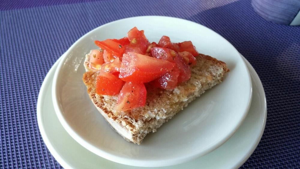 Bruschetta bij het ontbijt