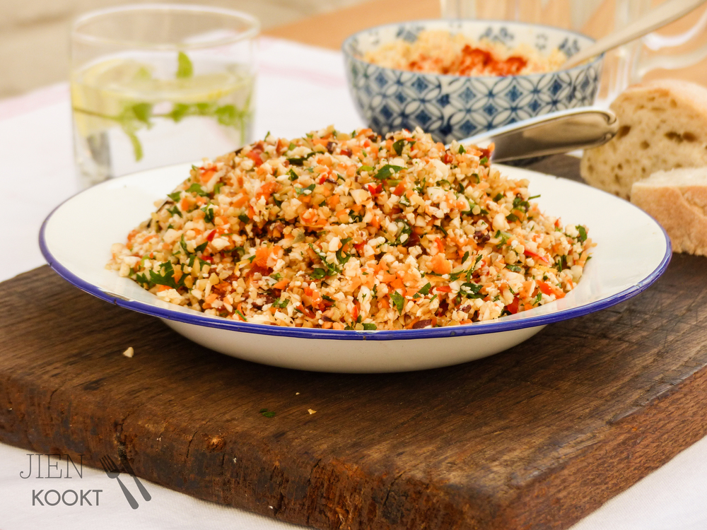 Mediterrane salade van groenten | Jienkookt.nl