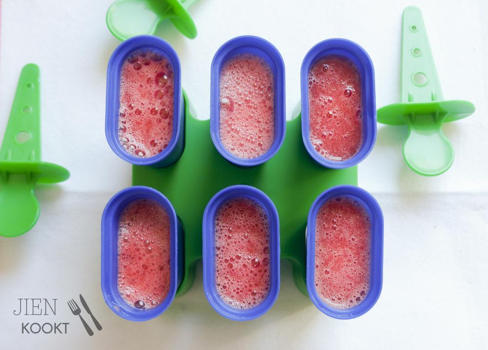Watermeloen-limoen ijsjes | Jienkookt.nl