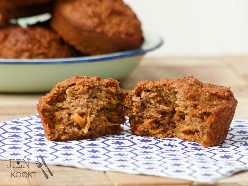 Carrot Cake muffins zonder suiker   Jienkookt.nl