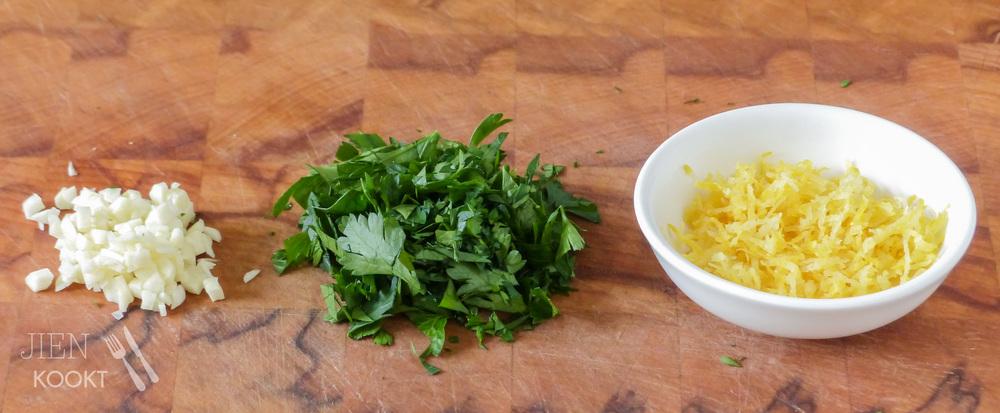 Groene aspergesalade met gremolata | Jienkookt.nl