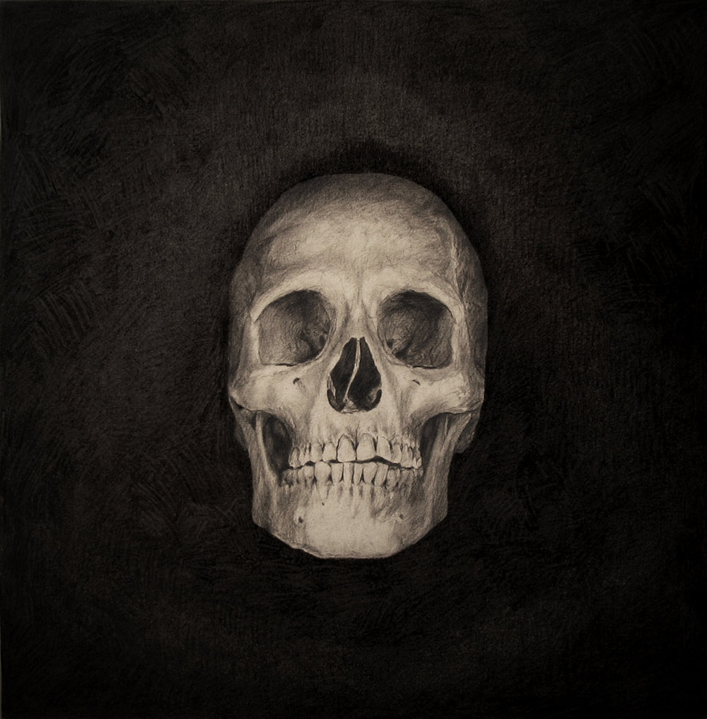2nd Skull - Sergio Barrale-pencil on canvas-42x42in-$1,600.jpg