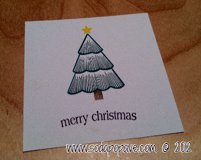 "The ""Merry Christmas"" is a separate stamp that we will add later. You are just stamping the Christmas Tree right now."