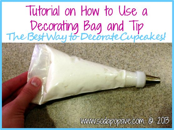 How To Use Cake Decorating Bags And Tips : Frosting Cupcakes Using a Decorating Bag and Tip   Soda ...