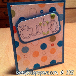Baby Shower Card - Using Glitter