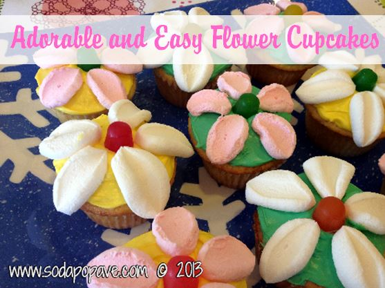 Adorable and Easy Flower Cupcakes Banner.JPG