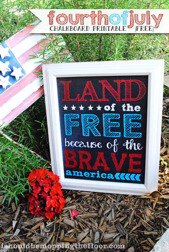 Fourth of July Chalkboard Printable