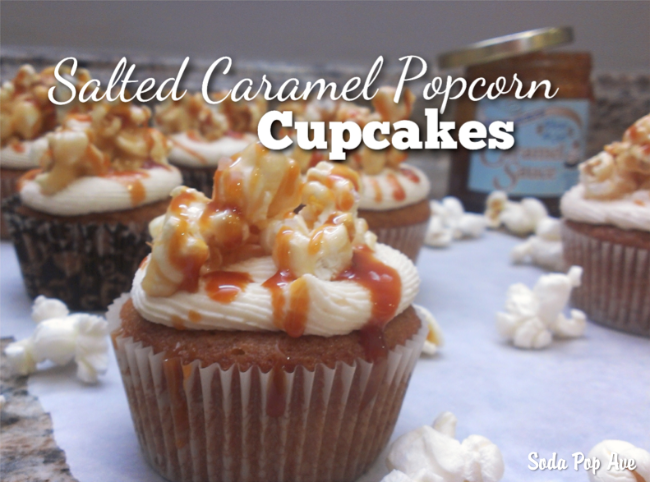 Rachel's Salted Caramel Popcorn Cupcakes