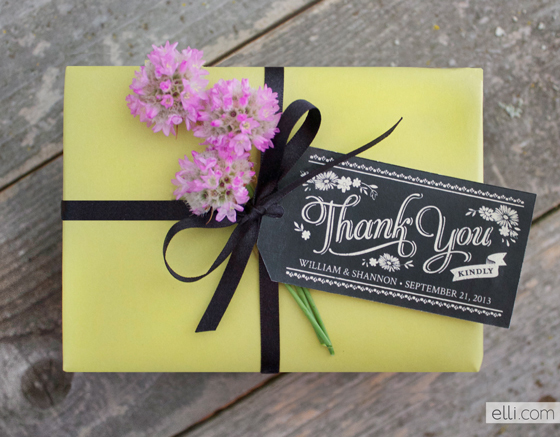 Chalkboard Style Thank You Printable Tags