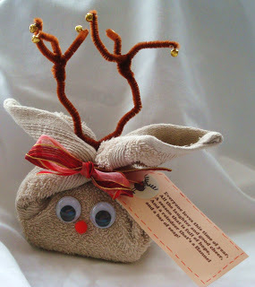 Washcloth and Bath Goodies Reindeer