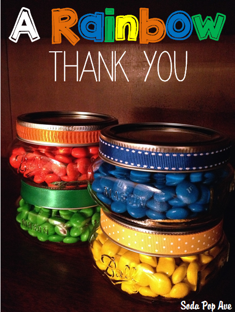 A Rainbow Thank You - M&Ms