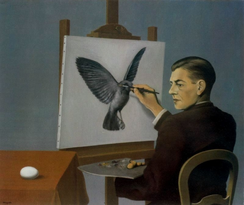 Image: Rene Magritte's Perspicacity (1936), all-art.org