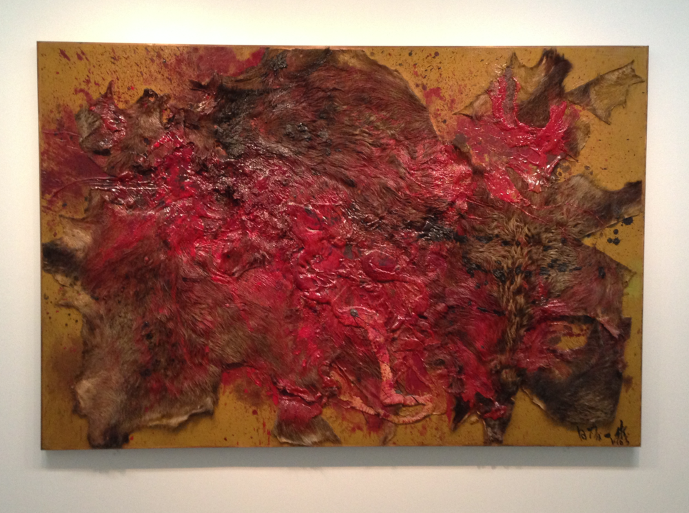 Kazuo Shiraga,  Inoshishi gari-1 (Wild boar hunting) – 1 , 1963 (click to enlarge)