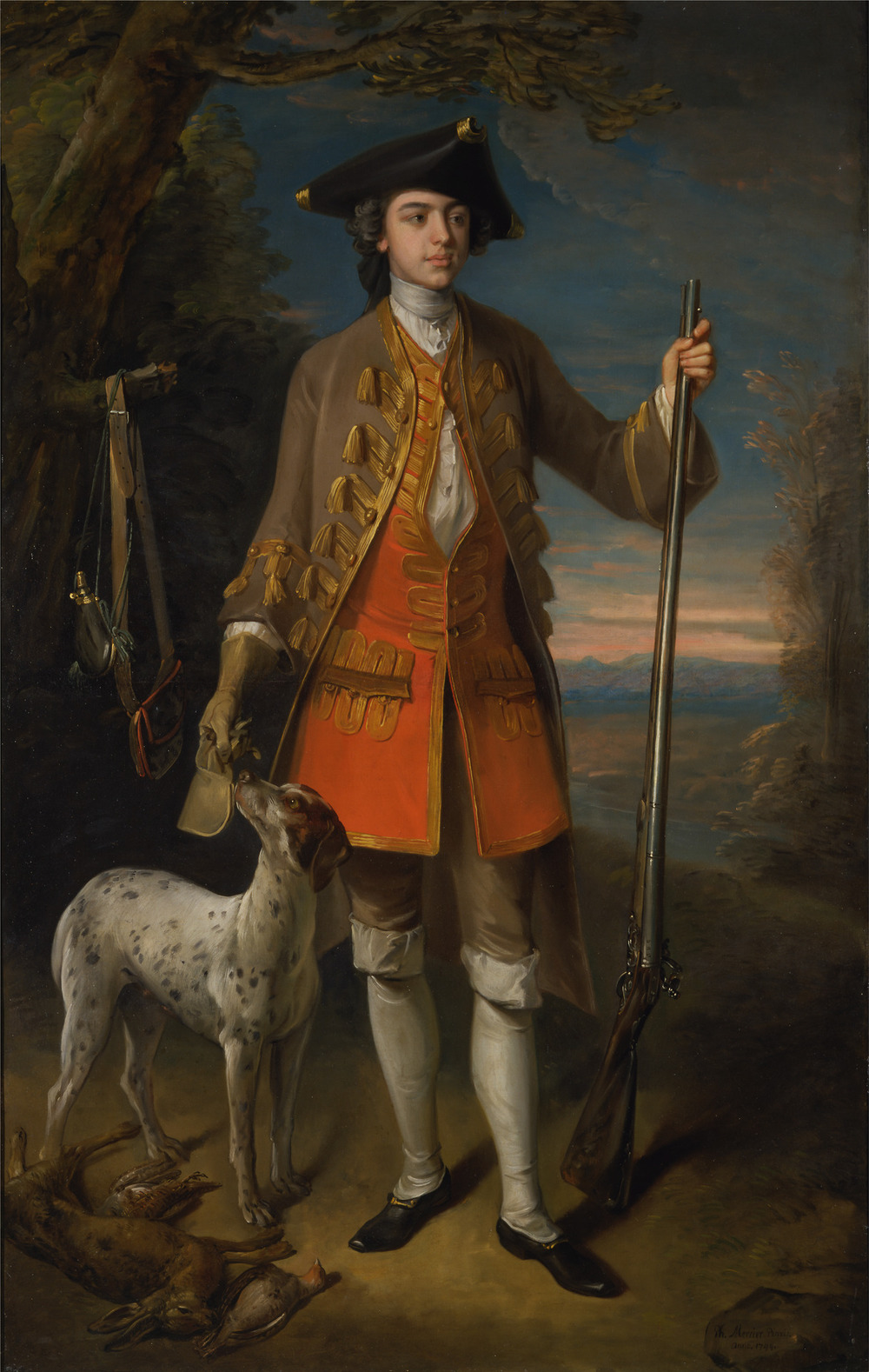 "Philippe Mercier, ""Sir Edward Hales, Baronet, of Hales Place, Hackington, Kent"" (1744).  Credit: Yale Center for British Art"