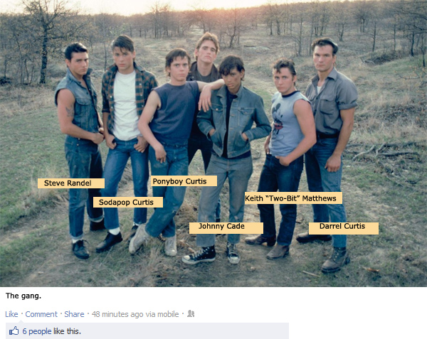 the outsiders by s e hinton Beginning the outsiders as a way of coping with her father's illness, hinton worked through four drafts of her story before she was happy with it.
