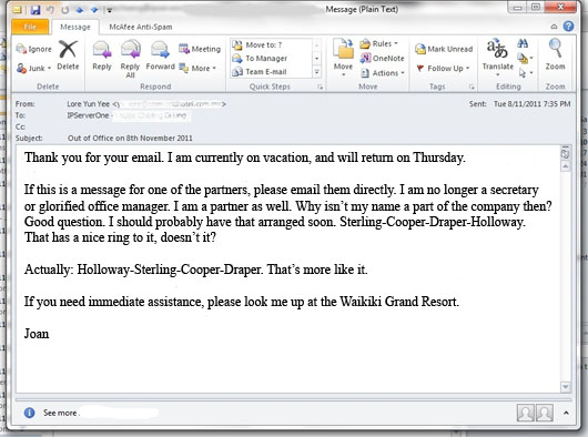 out of office message examples out of office email