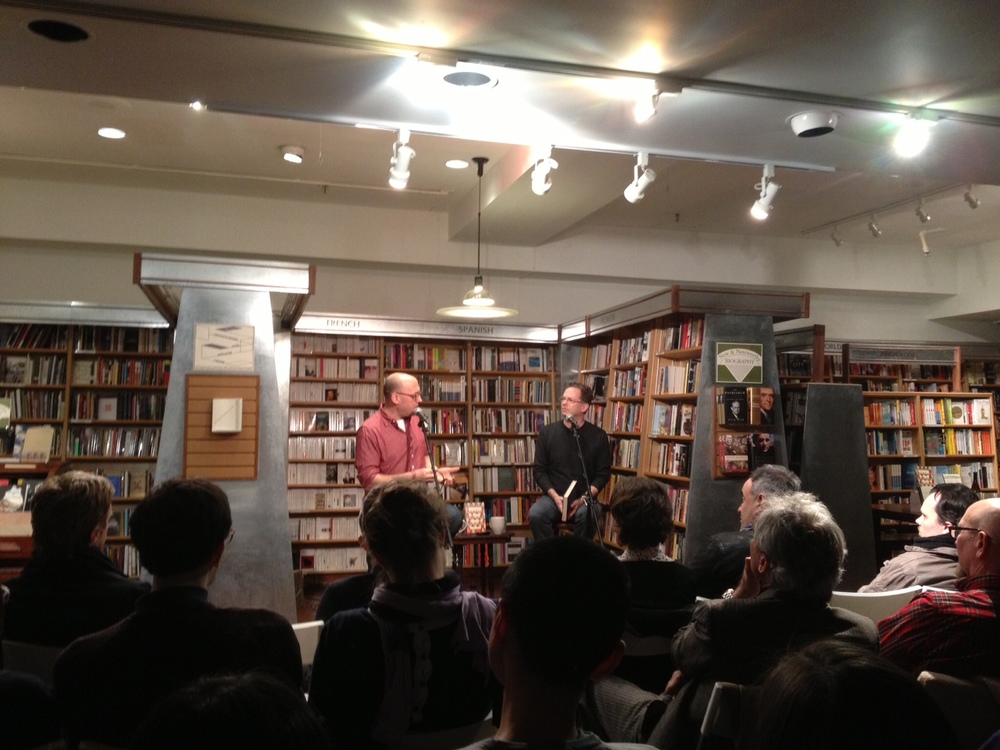 Ben Marcus (L) and Glenn Kurtz at McNally Jackson